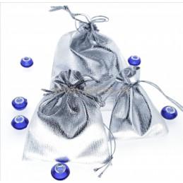 Stříbrný sáček - látkový