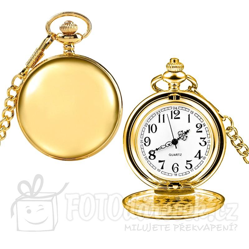 kapesní hodiny otvírací leštěné hladké gravírování rytí textů obrázků loga monogramu věnování vhodný dárek řetízek